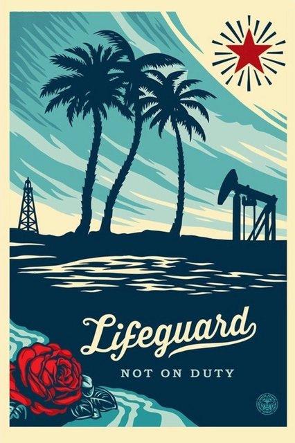 Shepard Fairey, 'Lifeguard Not on Duty - Offset', 2015, Blackline Gallery