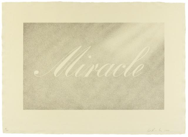 Ed Ruscha, 'Miracle', 1999, Hindman