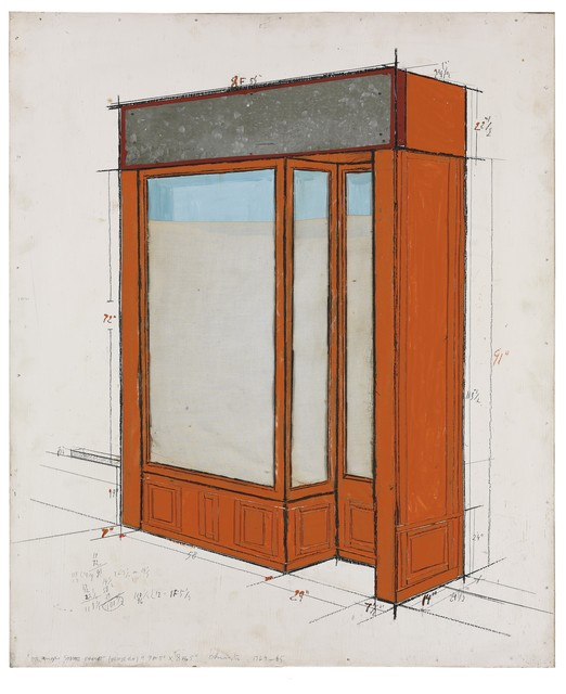 , 'Orange storefront (Project),' ca. 1964, Galerie Natalie Seroussi