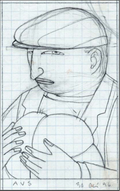 , 'Drawing for Eddie's Brother,' 1996, Adelson Galleries