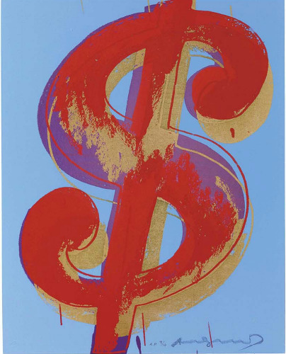 Andy Warhol, '$ (1)', 1982, Print, From the portfolio of six screenprints on Lenox Museum Board, Coskun Fine Art