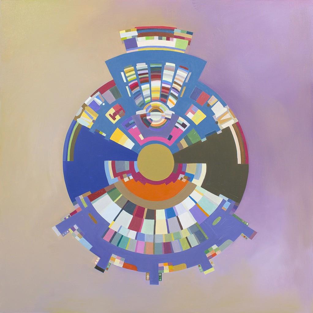 Gropius Floorplan: Palace of the Soviets, (Violet)