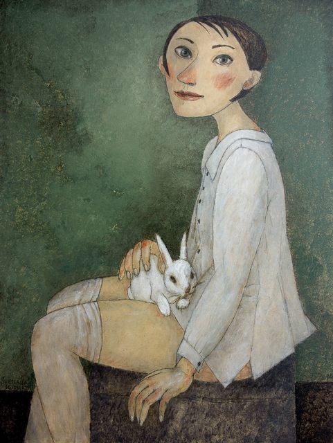, 'Girl with rabbit,' , Great Banyan Art