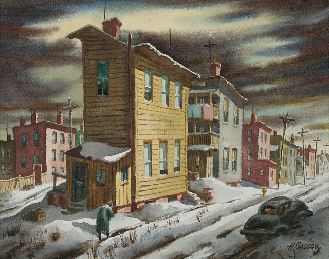 , 'Winter Street,' , Questroyal Fine Art