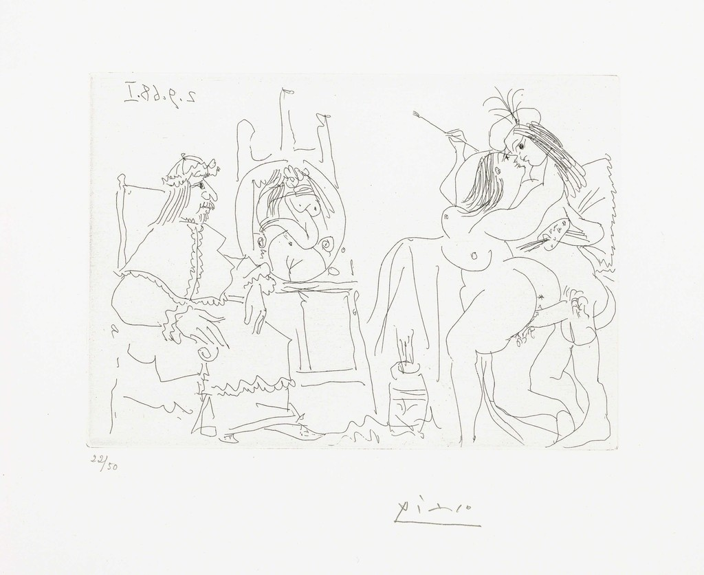 Line Art By Picasso : Pablo picasso estate collection