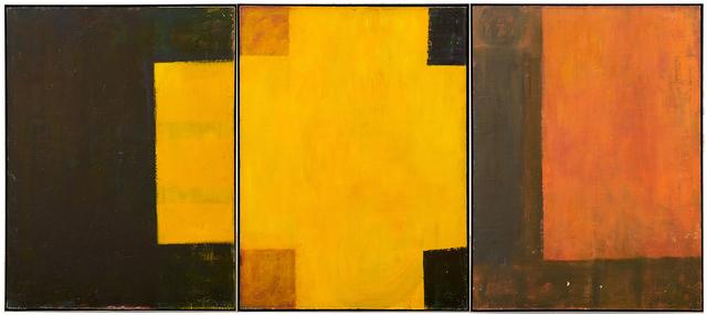 Katherine Bradford, 'Untitled', 1988, Painting, Oil on canvas on three panels (framed separately), Rago/Wright