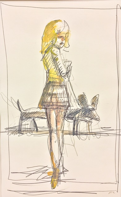 , 'School Girl and Long Dog,' 1998, Cross Contemporary Art