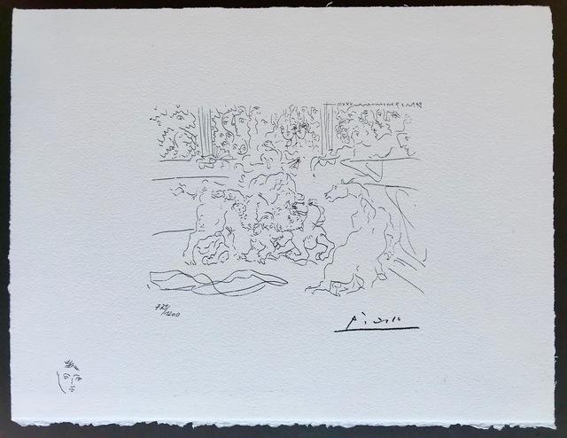 Pablo Picasso, 'Taureau et chevaux dans l'arène (Suite Vollard Planche XV)', 1973, ByNewArt