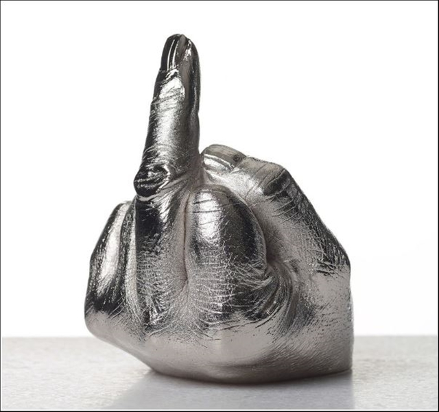 Ai Weiwei, 'The Artist's Hand', 2017, Sculpture, Electroplated rhodium on cast urethane resin. Signed on underside.  New in Artist designed box., Alpha 137 Gallery Gallery Auction