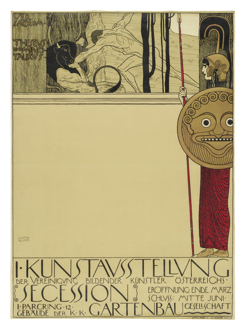 , 'Poster for the First Exhibition of the Vienna Secession,' 1898, Galerie St. Etienne