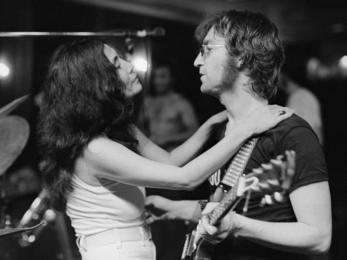 John Lennon and Yoko Ono, Fillmore East, NYC - 1972