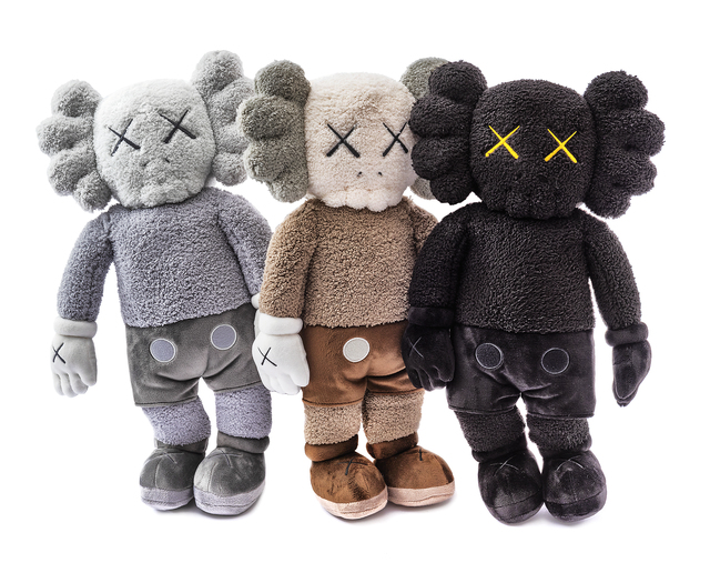 KAWS, 'Holiday Hong Kong (Black, Brown & Grey Plush)', 2019, Other, A complete set of three limited edition plush collectable, Tate Ward Auctions