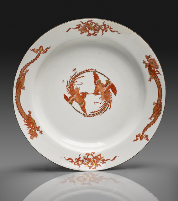 ", 'Large Dish from the ""Red Dragon"" Service,' ca. 1730, The Frick Collection"