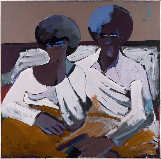 , 'Black Couple in Bed Looking at TV,' 1971, Newark Museum