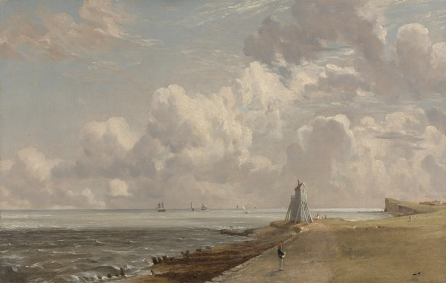 John Constable, 'Harwich: The Low Lighthouse and Beacon Hill', ca. 1820, Yale Center for British Art