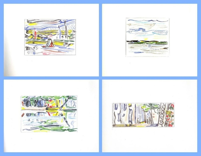 Roy Lichtenstein, 'Limited Edition Hardback Book of Landscape Sketches 1984-1985', 1986, Ephemera or Merchandise, Hardback book with elegant mylar cover (lt ed) with reproductions, Alpha 137 Gallery Gallery Auction