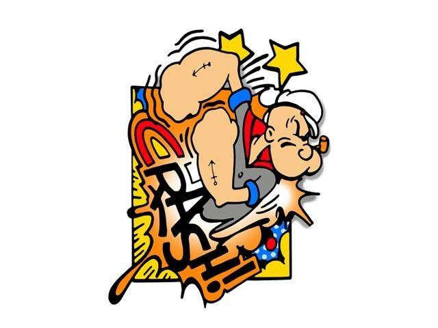 CRASH, 'Popeye', 2013, Aurifer AG