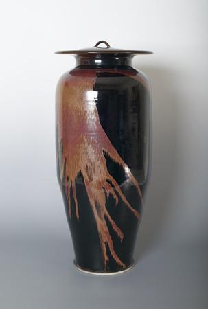 , 'Vase with lid, honan tenmoku glaze,' , Pucker Gallery