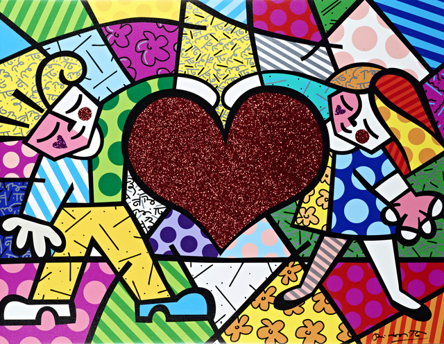 Romero Britto, 'Big Heart | hand embellished', 2019, Castle Fine Art