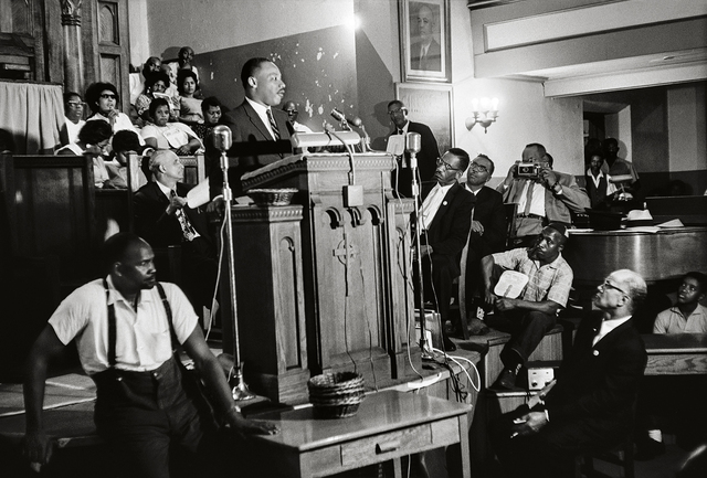 , 'Martin Luther King Jr. speaks in Birmingham,' 1963, Fahey/Klein Gallery