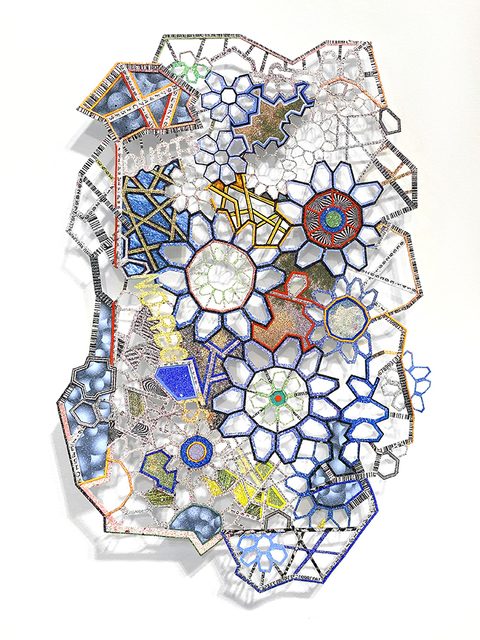 Nancy Baker, 'Tears', 2020, Drawing, Collage or other Work on Paper, Painted and printed paper, laser and hand cut, SHIM Art Network