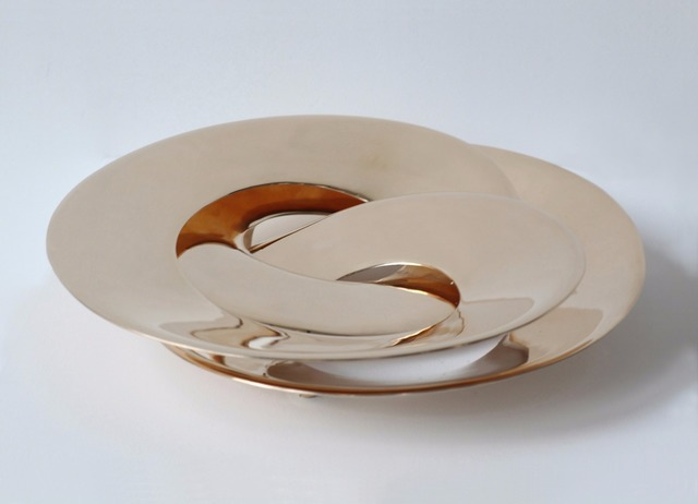 , 'Rollercoaster Tray (Gold),' 2014, Gallery ALL