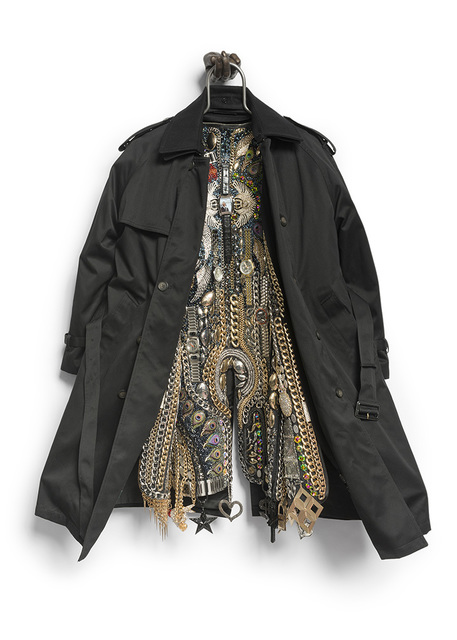 Nick Cave, 'Hustle Coat', 2017, Mixed Media, Trench coat, cast bronze hand, metal, costume jewelry, watches, and chains., Kavi Gupta