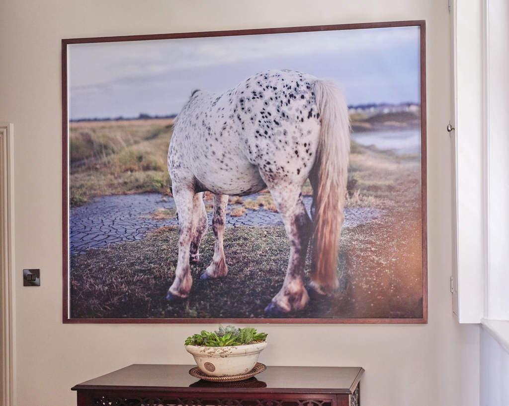 Framed work from 'Bastard Countryside' by Robin Friend