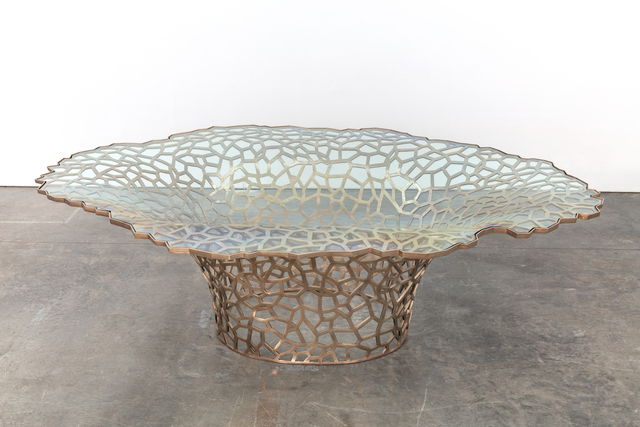 , 'Large Lattice Vortex Dining Table,' 2019, Kasmin
