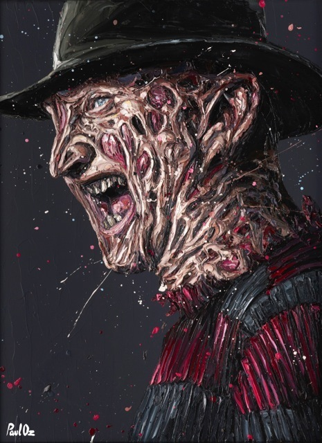 "Paul Oz, '""Are you ready...?"" (Freddy Krueger)', 2015, Imitate Modern"