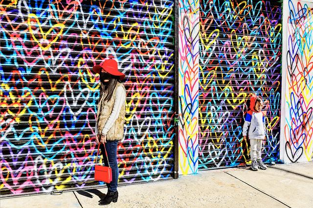 Mitchell Funk, 'Street Art with Bystanders.  New York City', 2018, Robert Funk Fine Art