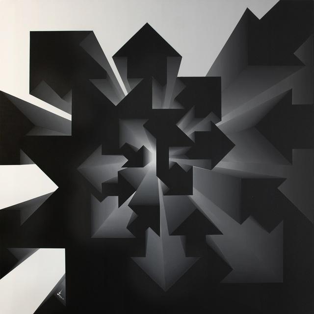 , 'Fibonacci Nautilus - Inverse Black & White,' 2017, Addicted Art Gallery