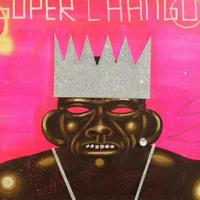 Carlos Ramirez (b. 1967), 'Super Chango', 2020, Painting, Various materials, MAIA Contemporary