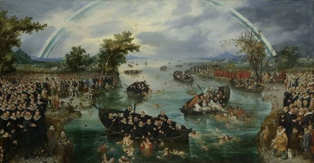 Adriaen Pietersz van de Venne, 'Fishing for Souls', 1614, Rijksmuseum