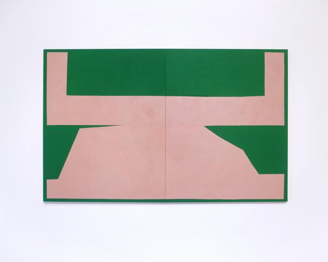 , 'Pink on Green I,' 2017, Tappan