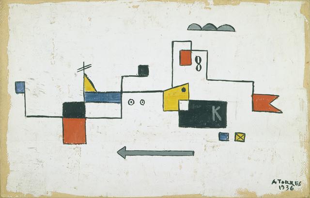 , 'Formas con fondo blanco,' 1936, Cecilia de Torres Ltd.