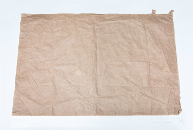 , 'Untitled (Drawing for Four Objects #2), 2 sheets of silk paper,' 2014, OSL Contemporary