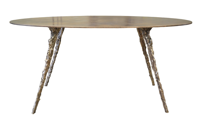 , 'Cast/Plate Oval Table, Bronze,' , blankblank