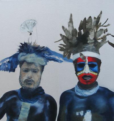 Olaf Quantius, 'Wächter 2, Les Chaperons', 2007, Painting, Oil on canvas, Kunzt Gallery