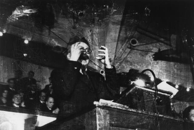 , 'Leon Trotsky lecturing. Copenhagen, Denmark. ,' 1932, Magnum Photos