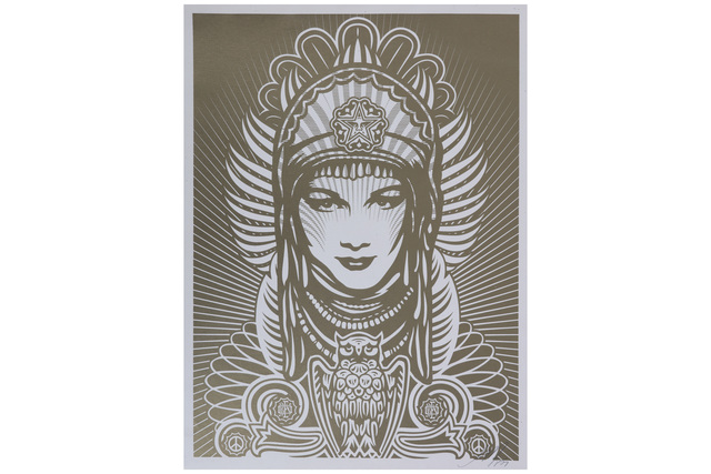 Shepard Fairey, 'Peace Goddess (Gold)', 2007, Chiswick Auctions