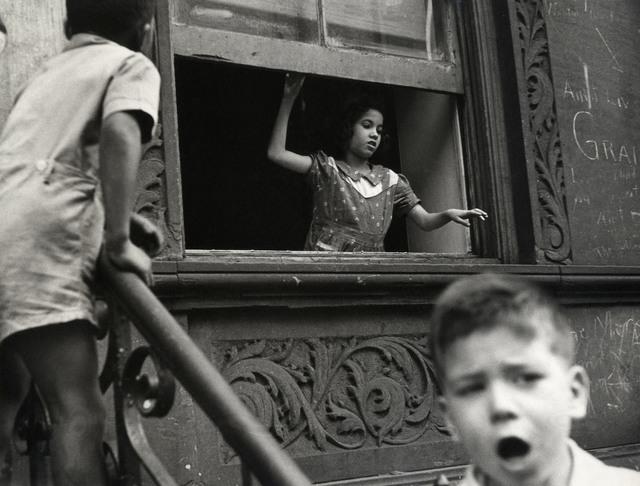 Helen Levitt, 'N.Y.C. (girl in window)', ca. 1942, Laurence Miller Gallery