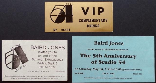 "Andy Warhol, '""Untitled (Studio 54)""', ca. 1980s, Ephemera or Merchandise, Paper, Bengtsson Fine Art"