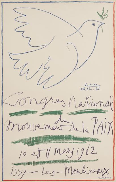 Pablo Picasso, 'Congrès National du Mouvement de la Paix', 1962, Zuleika Gallery