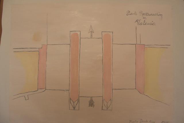 Christian Vinck, 'Puente restauración en Valencia', 2019, Diablo Rosso