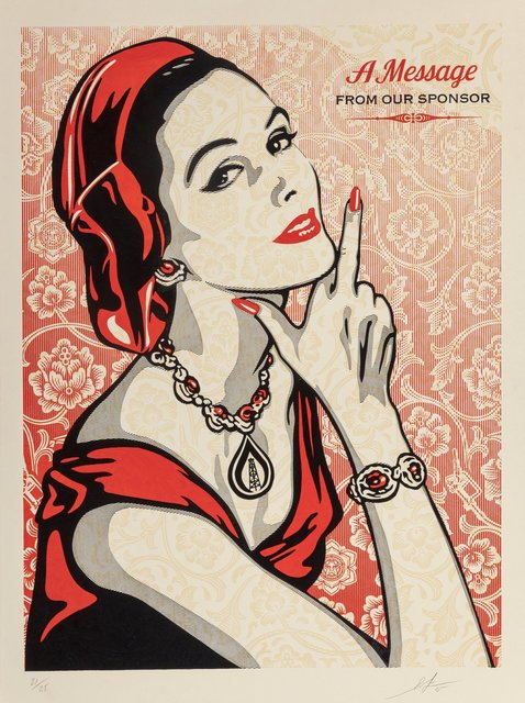 Shepard Fairey, 'A Message From Our Sponsor', 2015, Heritage Auctions
