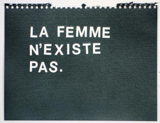 , 'La Femme N'Existe Pas (black),' , Rodolphe Janssen
