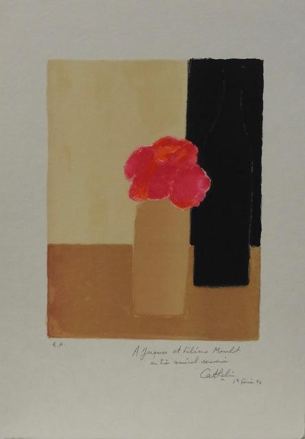 Bernard Cathelin, 'Pink flowers in a vase', 1990, Artioli Findlay