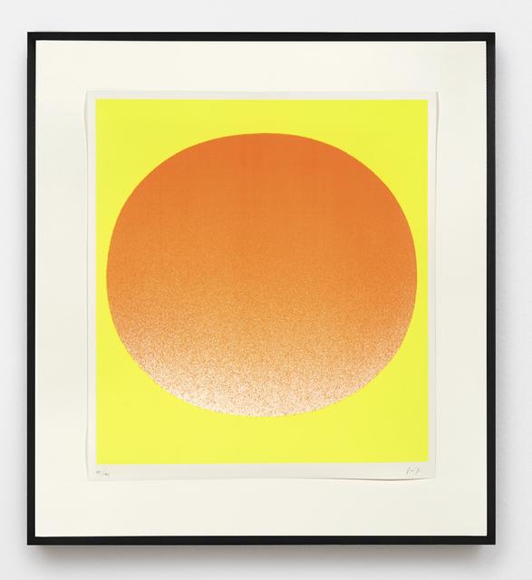 , 'orange auf gelb,' 1967, Ludorff