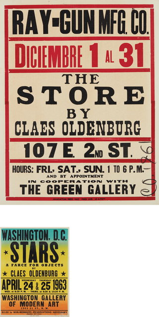 Claes Oldenburg, 'The Store; and Stars', 1961 and 1963, Phillips